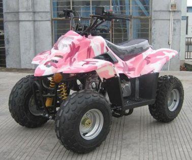Pink Atv on 50cc Pocket Bike Frame